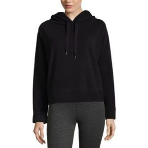 Brushed Fleece Crop Pullover Hoodie